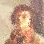 Маша Айнбиндер, автопортрет, фрагмент. Холст, масло.